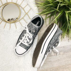 Converse black and white marled size 5